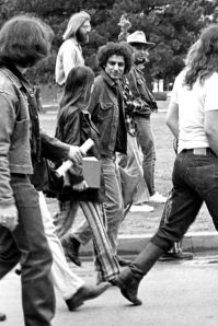 Yippie founder Abbie Hoffman at an anti-war demonstration