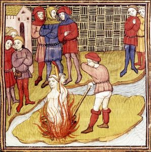 The burning of the Templars