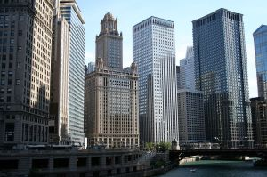 A view of the Loop from the Chicago River