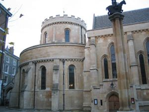 Temple Church in London, originally a Templar building