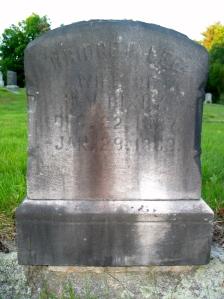 Bridget's gravestone