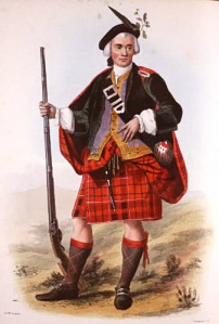 We're supposed to believe this was normal dress for a Highland Cameron