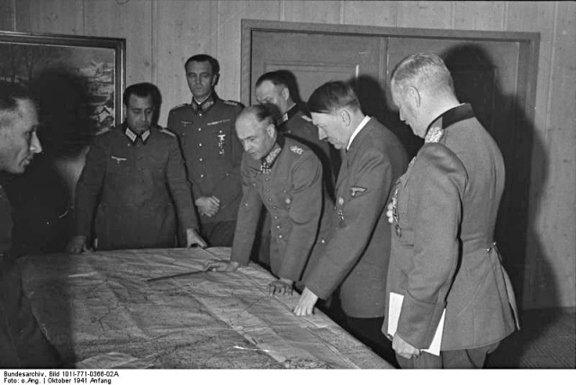 It is probably a bad idea to compare your boss and your colleagues to Hitler and his generals (attr: Bundesarchiv, Bild 101I-771-0366-02A / CC-BY-SA)