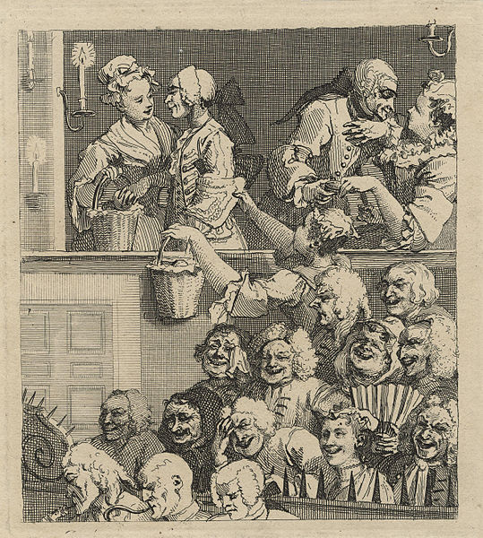 "Hogarth's ""The Laughing Audience"""