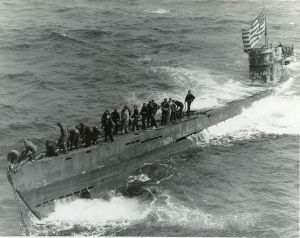 The U-505 shortly after it was captured