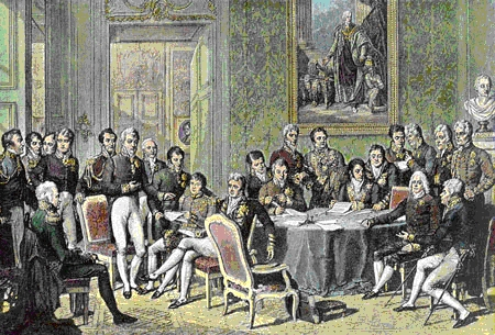 The Congress of Vienna, showing the most important diplomats