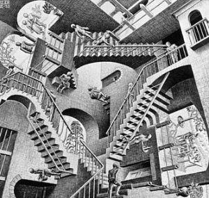 """Escher's """"Relativity"""" (1953)"""