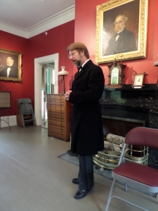Me as Boutwell in the parlor of his house