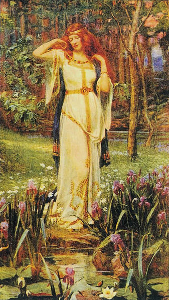 Freyja and the Necklace - J. Doyle Penrose (1913) Clearly there's more to Freyja than I learned in Edith Hamilton