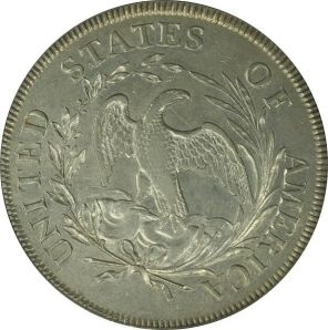 Early silver dollar reverse