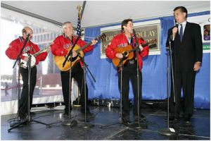 The Kingston Trio, with Mitt Romney at right