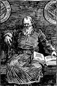 Snorri as imagined by the 19th century Norwegian illustrator