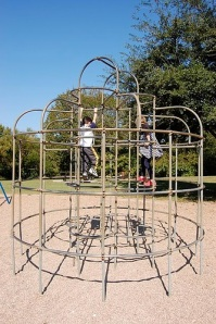 This is the style of jungle gym that was on the elementary school playground