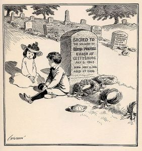 This early 20th century cartoon captures the essence of Memorial Day's original meanings