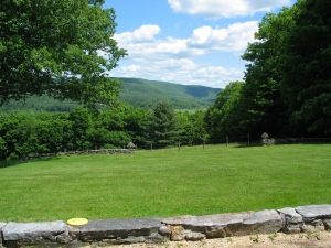 Many Shakers villages, like Tyringham, are located in beautiful locations; this is a view from the meetinghouse's current site