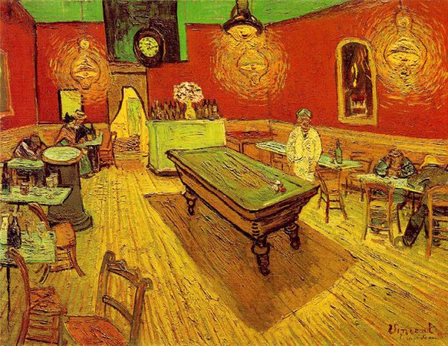 I like my coffee house decor a little more subtle than Van Gogh's depiction of one