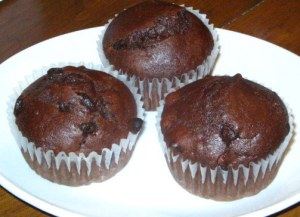 Chocolate chocolate-chip muffins? YES!