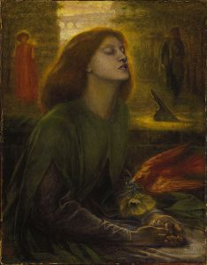 Give Powers credit: he recognized that Rossetti had already turned his wife into something supernatural