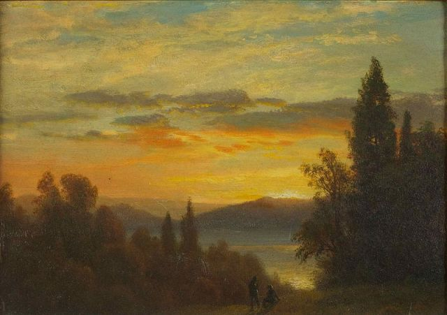 """On the Hudson River Near Irvington"" - Albert Bierstadt (1830-1902) c. 1866-70"