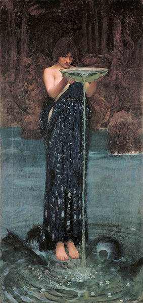 Circe Invidiosa by John William Waterhouse (1849-1917)