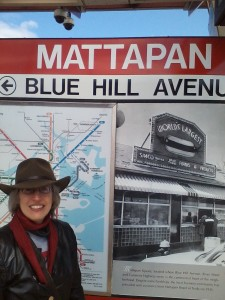 E. J. at the Mattapan station, which I'd never visited before.