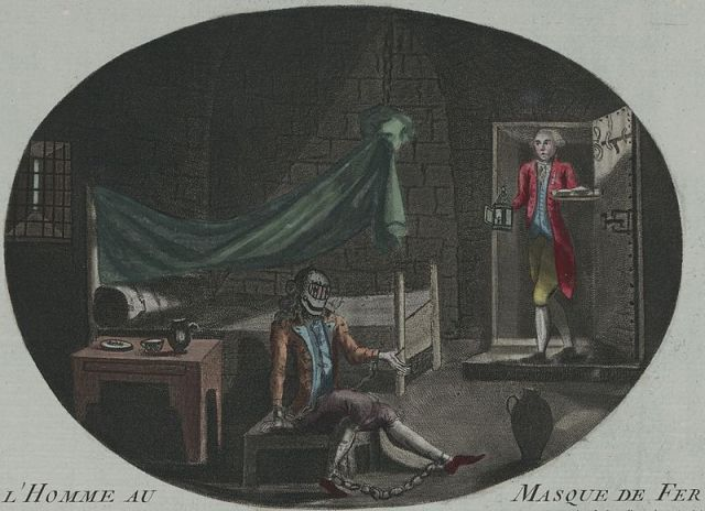A historical question of identity: the Man in the Iron Mask (died 1703), as depicted in 1789