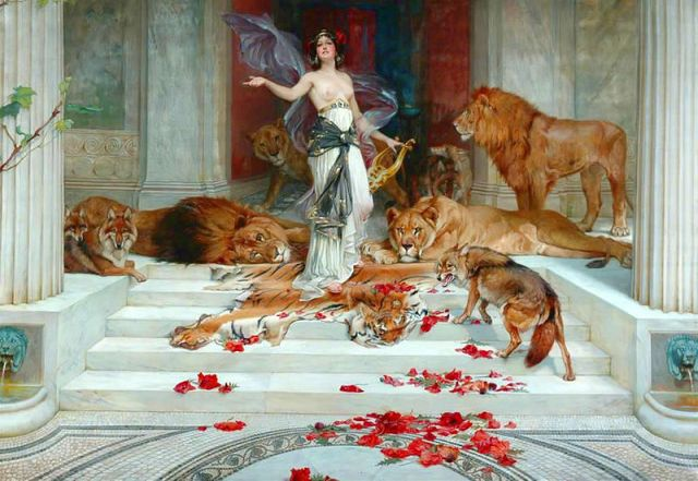 "I could see Aunt Tara posing like this (""Circe"" by Wright Barker (1864-1941)"