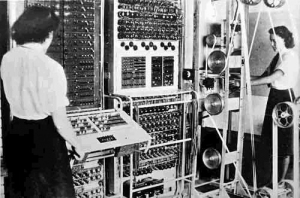 Unlike early mainframes, mobile phone-computers do not come with women to do your clerical duties for you