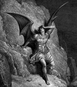 "Gustave Dore's depiction of what some call the most sympathetic treatment of the devil, John Milton's ""Paradise Lost"""