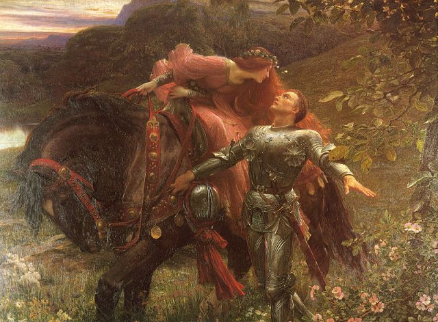 "For Harry, every woman is ""La Belle Dame Sans Merci"" (depicted here by Frank Dicksee (1853-1928))"