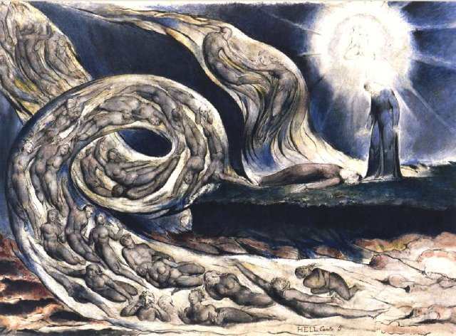 "You think after what I've written I'm going to explain why I used this picture? OK, here's the deal. It's WIlliam Blake, if by some off-chance your inadequate education didn't include art history. It's from his interpretation of Dante's ""Divine Comedy."" And yes, it's set in a circle of hell. Which one? Think about Harry Eberhardt, and the answer should be obvious."