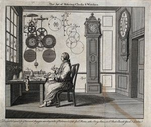 Can't have a time-traveling clock without a clock-maker! (Source: Wikipedia/Wellcome Images)