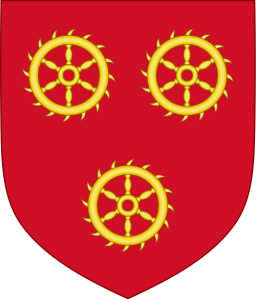 If you know whose coat of arms this is, the end of the chapter will be no surprise! (Source: Wikipedia/Sodacan)